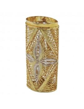 Gold Plated 925 Sterling Silver Filigree Lighter Holder