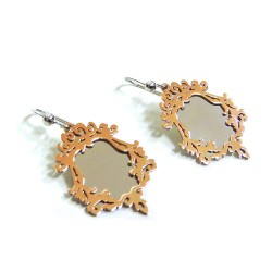 925 Sterling Silver Enchanted Mirror Earrings  by Damiano Argenti
