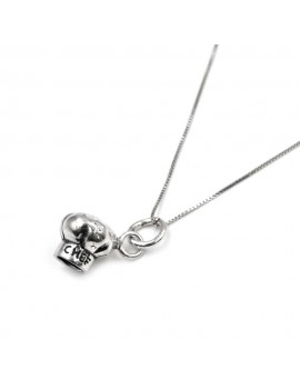 Sterling Silver Chef Hat Necklace