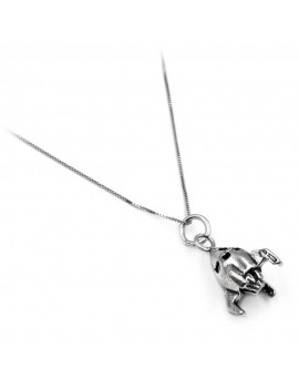 Sterling Silver Spaceship Necklace