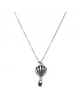 Hot Air Balloon Silver Necklace