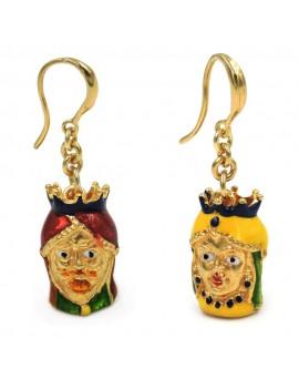 Gold Plated Sterling Silver Sicilian Moor Earrings