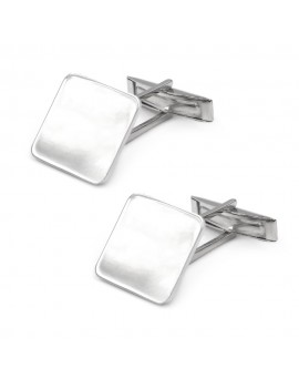 Personalized 925 Sterling Silver Square Cufflinks