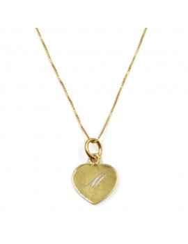 Customizable Gold Plated Sterling Silver Heart Necklace