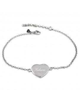 Customizable Heart Medal Bracelet