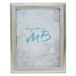 Silver Picture Frame Glossy Thousand Lines