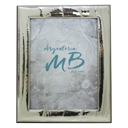 Silver Picture Frame Glossy Striped