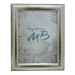 Silver Picture Frame Glossy Hammered