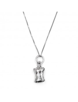 Sterling Silver Sartorial Mannequin Pendant Necklace