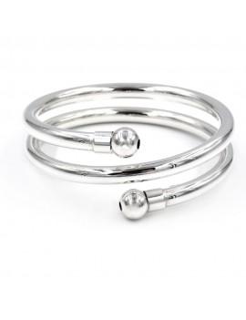 925 Sterling Silver Spiral Bangle Bracelet