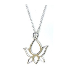 925 Sterling Silver Necklace with Lotus Flower Pendant