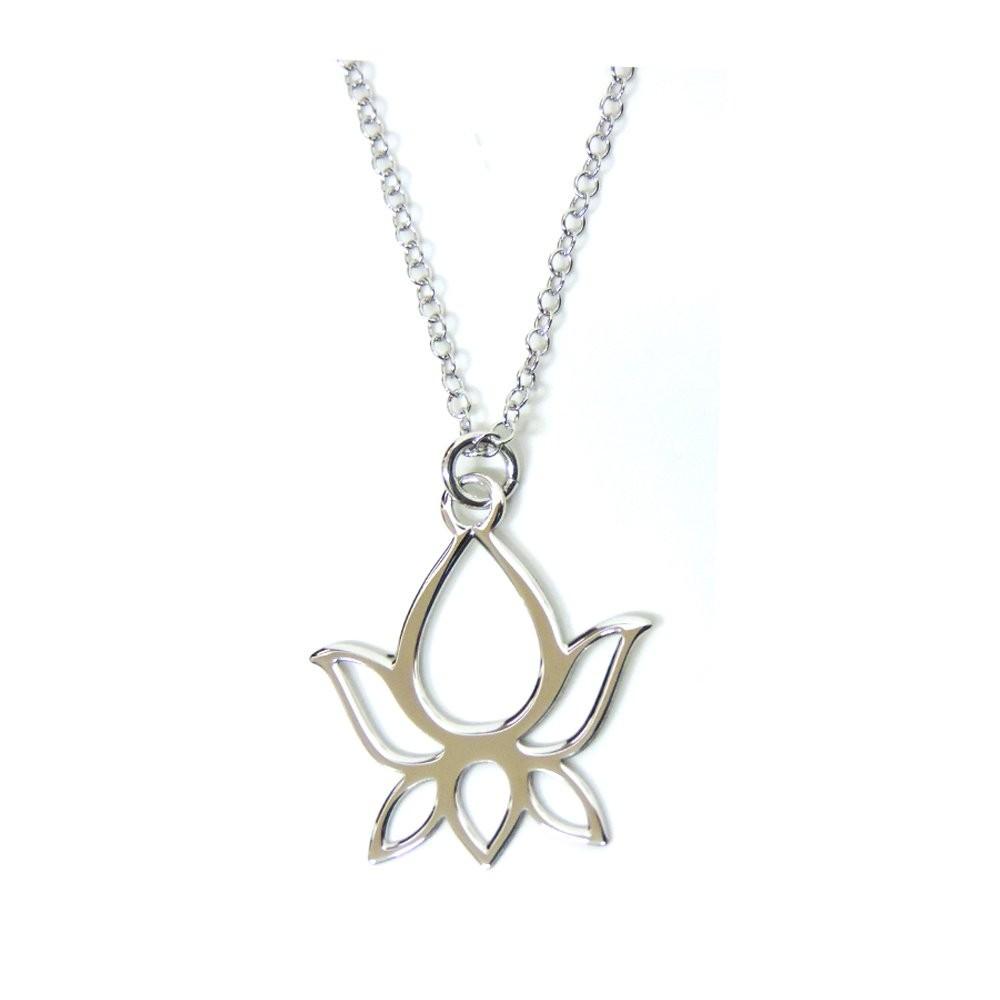 925 sterling silver necklace with lotus flower pendant mb 925 sterling silver necklace with lotus flower pendant mb argenti di muscariello a c sas izmirmasajfo