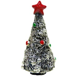Christmas Tree Silver Plated Resin Sculpture