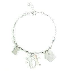 925 Sterling Silver Sweet Home Bracelet