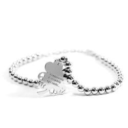 925 Sterling Silver Bracelet with Shamrock Little Prince