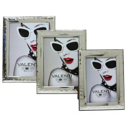 Picture Frame Set Corrugated with Glossy Band by Valenti Argenti