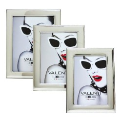 Picture Frame Set Glossy with Double Edge by Valenti Argenti