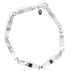 925 Sterling Silver Glossy Semi- Rigid Bracelet