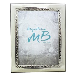Silver Picture Frame Glossy Band Shored 7 x 9