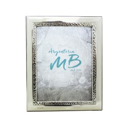 Silver Picture Frame Glossy Band Shored cm 13x18