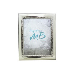 Silver Picture Frame Glossy Band Shored cm 9x13