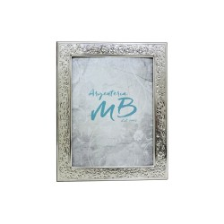 Silver Picture Frame Glossy Flowers cm 9x13