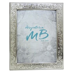 Silver Picture Frame Glossy Flowers cm 18x24