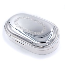 925 Sterling Silver Oval Jewelry Box