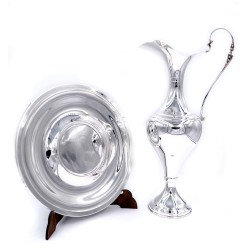 800 Sterling Silver Empire Style Amphora with Dish