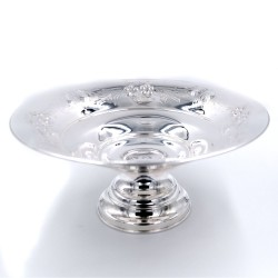 800 Sterling Silver Flowers Decor Bowl