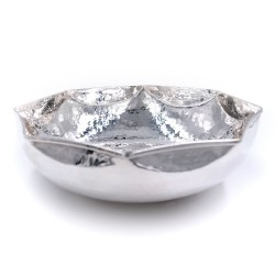 800 Sterling Silver Hammered  Octagonal bowl