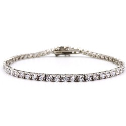 925 Sterling Silver Tennis Bracelet with White Zircons