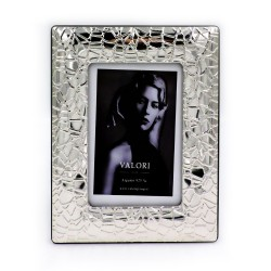 925 Sterling Silver Photo Frame 4 x 6 Feeling Model Mahogany Back