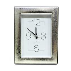Silver Alarm Clock Glossy Retrò Line cm 9x13 by Pierre Cardin