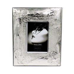 925 Sterling Silver Photo Frame 3,5 x 5 Passion Model Mahogany Back