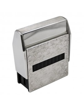Sterling Silver Roses Self-Inking Stamp