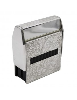 Baroque Sterling Silver Self-Inking Stamp