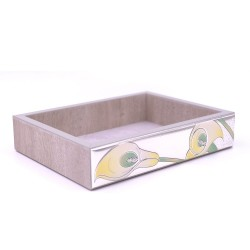 Wooden Trinket with Silver Calle Decor