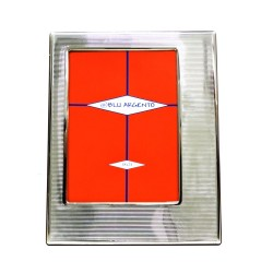 Silver Picture Frame Glossy Thousend Lines cm 13x18