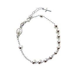 925 Sterling Silver Rosary Bracelet with Boules by Damiano Argenti