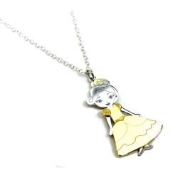 Collana 45 cm Con Ciondolo Little Princess in Argento 925 Rodiato