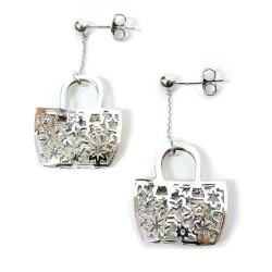 925 Sterling Silver Handbags Earrings by Damiano Argenti