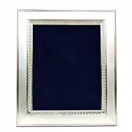 Cornice Portafoto Satinata Decoro Impero cm 20x25 in Argento
