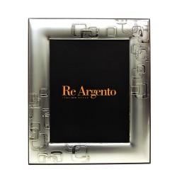 Cornice Portafoto Satinata Moderna Quadroni cm 13x18 in Argento