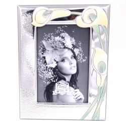 Silver Photo Frame 4 x 6 Calle Lily Decor