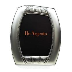 Cornice Portafoto Sagomata Satinata Sabbiata cm 13x18 in Argento