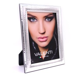 Picture Frame Glossy Hammered by Valenti Argenti cm 15x20