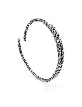 Burnished Sterling Silver Rope Bracelet