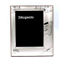Silver Picture Frame Satin Rhombus Sandblasted Decentralized cm 13x18