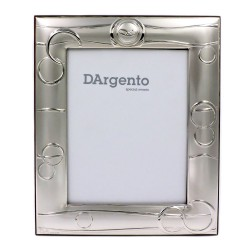 Silver Picture Frame Satin with Wedding Rings cm 13x18